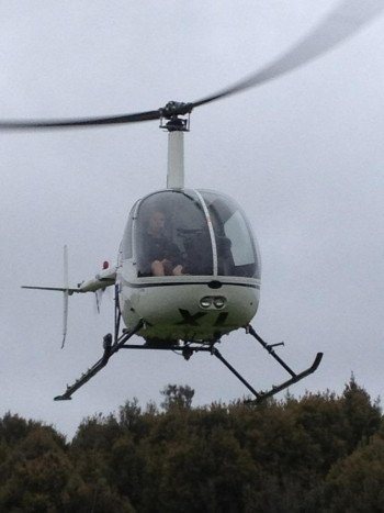 Kieran Carter Helicopter training going solo for the first time